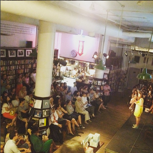 There are few things as heartwarming as hosting 200-ish book lovers into our space to listen to a reading by one of our favorite authors. Here is a recent night where Caroline Zancan read (for our debut novelist summer smash).