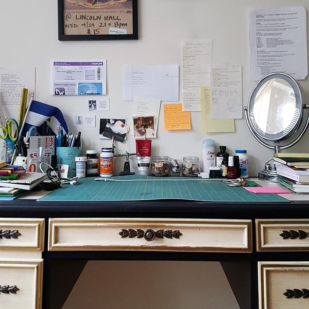 a photograph of the desk of Danielle Susi