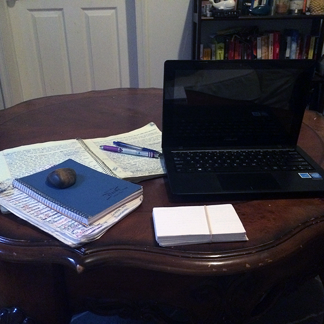 A photograph of the desk of Olivia Wolfgang-Smith