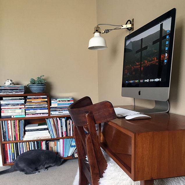 Zoe Dzunko's desk