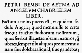 From Pietro Bembo's De Aetna, 1495.