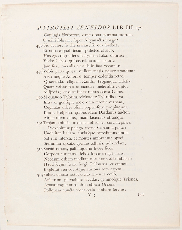 From Bucolica, Georgica, and the Aeneid, printed by John Baskerville, 1757.
