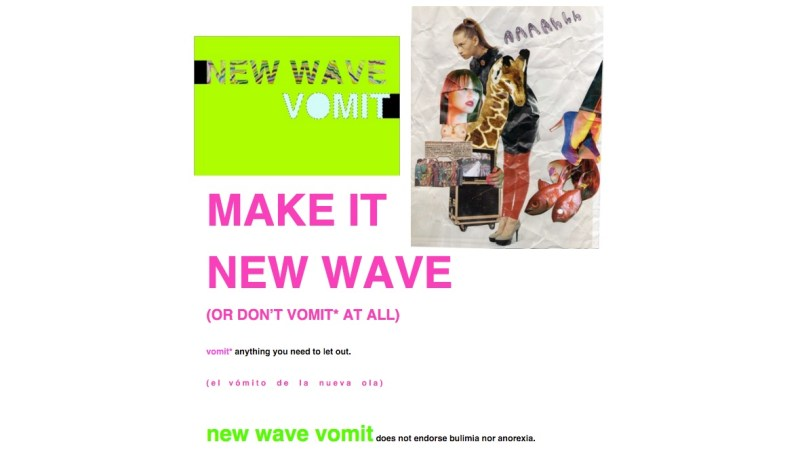 New Wave Vomit homepage