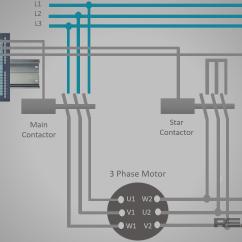 Wiring Diagram For Star Delta Motor Starter T Qua Mega 6 45 Plc Program And Part