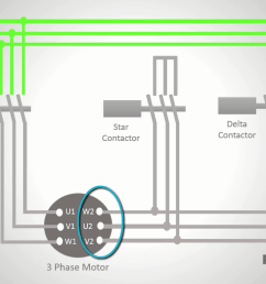 to connect the motor windings in delta just as you did for the star connection you should first wire the three main contacts of the contactor to the right  [ 1366 x 768 Pixel ]