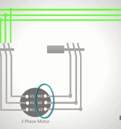 if you short circuit the other ends of the contactor s contacts when these contacts are closed the three motor terminals will be connected and the motor  [ 1366 x 768 Pixel ]