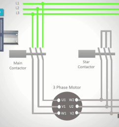 i ll connect the main contactors coil to the first output the star contactor to the second output and the delta contactor to the third output of the do  [ 1366 x 768 Pixel ]