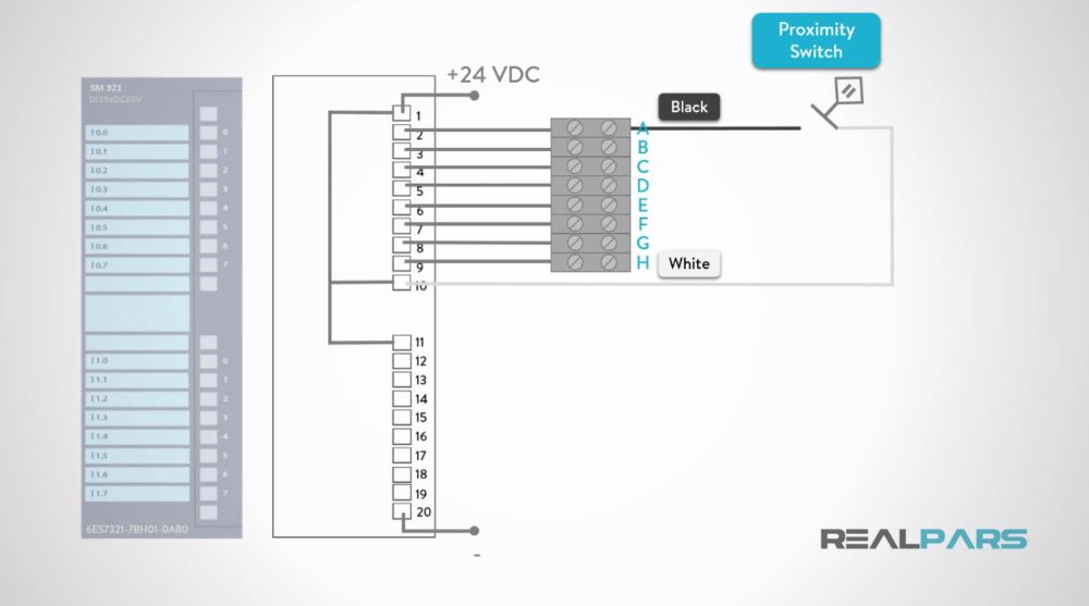 medium resolution of how to wire discrete dc sensors to plc part 1 plc programming rh realpars com 24 volt dc wiring diagram 24vdc transformer