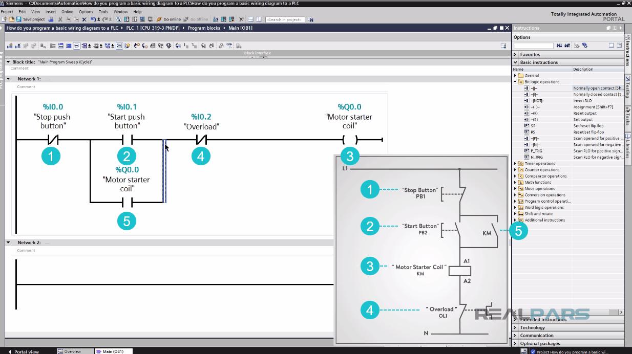 Electrical Wiring Diagram Plc