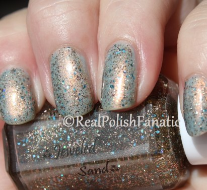 Windestine Jeweled Sand over China Glaze Pearl Jammin'