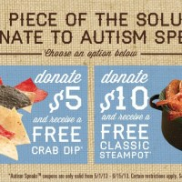 Joe's Crab Shack Teams Up with Autism Speaks this April