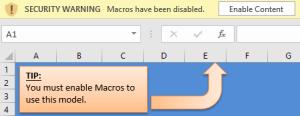 Enable Macros