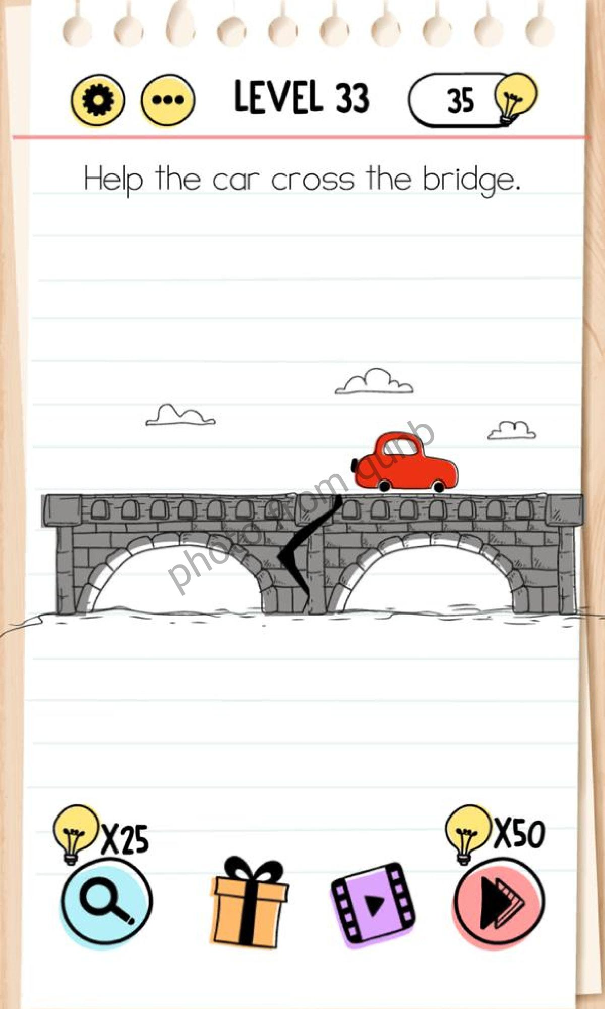 Brain Test Level 33 : brain, level, Brain, Level, Cross, Bridge, Answers, Solutions