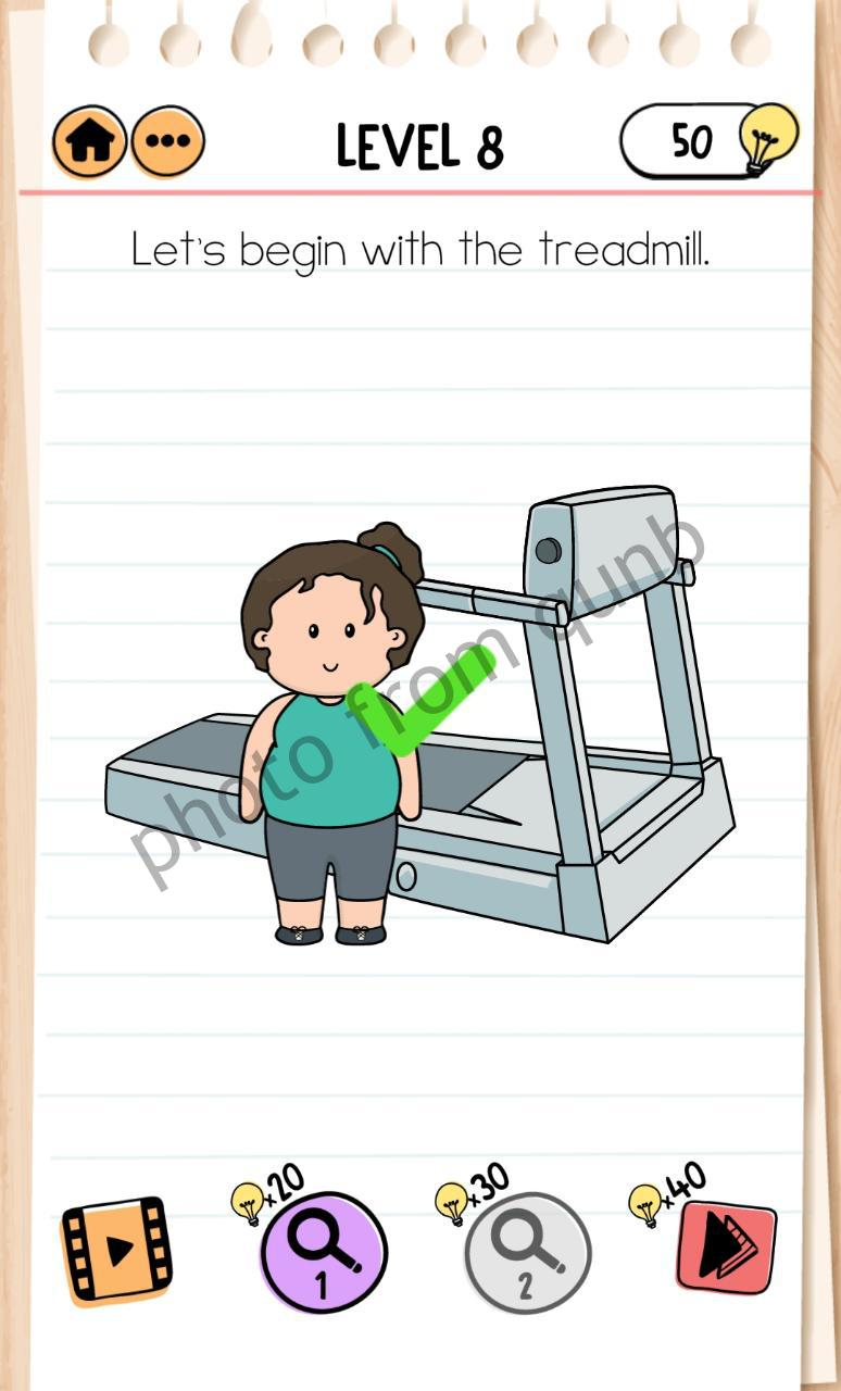 Jawaban Brain Out Level 8 : jawaban, brain, level, Brain, Fitness, Cindy, Level, Let's, Begin, Treadmill, Answers