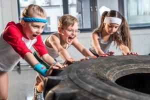 fitness center with kids exercise program