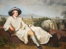 """Das berühmte Ölgemälde """"Goethe in der Campagna"""" von Tischbein"""