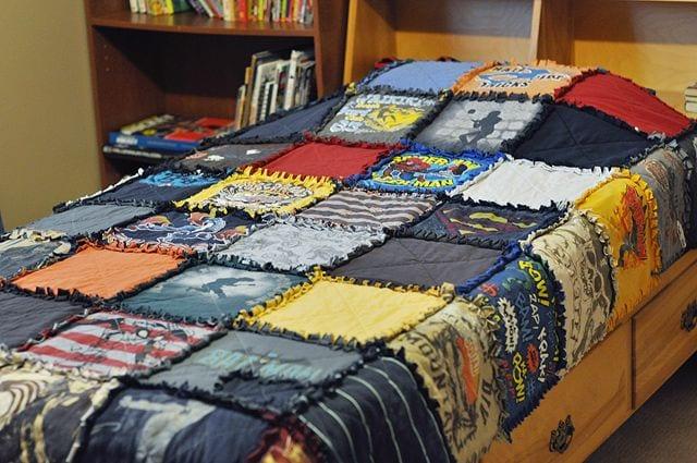 no-sew t-shirt quilt