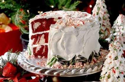 velvet christmas cake