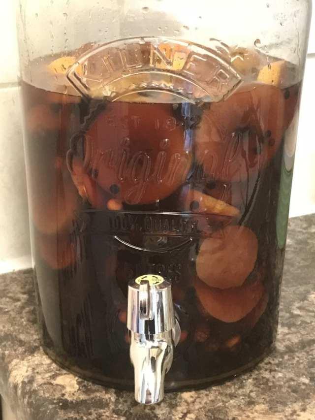 foraged fruits rum elixr