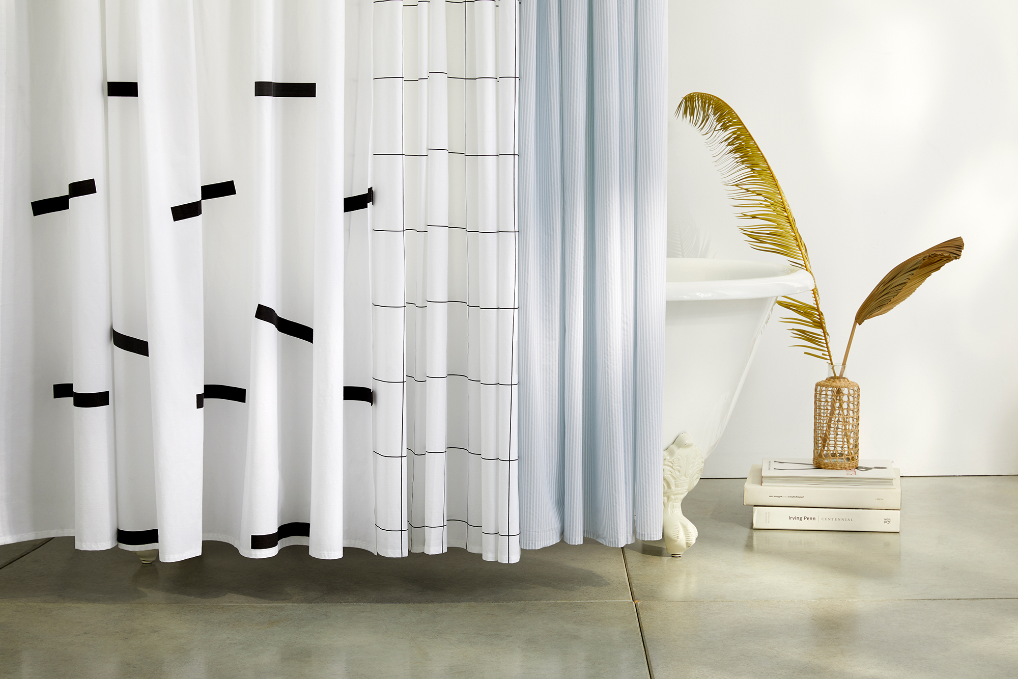 Bathroom Shower Curtain Brooklinen S New Shower Curtain Set Is Surprisingly Chic Real Simple