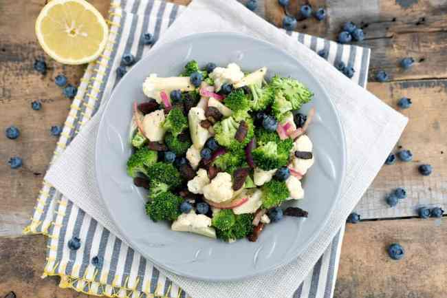 Broccoli cauliflower salad edited