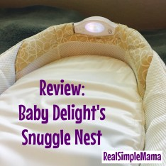 Review: Baby Delight's Snuggle Nest - Real Simple Mama