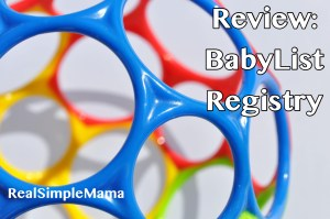 Review: BabyList Registry
