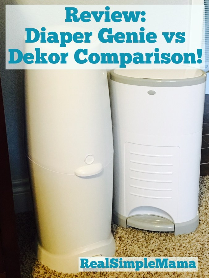 Review: Diaper Genie vs Dekor Comparison! - RealSimpleMama