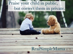 correct punish child kid toddler