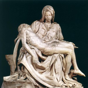 image of the pieta with the virgin mary mother of god and a crucified jesus christ