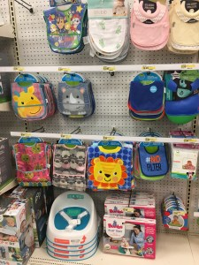 bib display at Target for BLW baby solid foods - Real Simpla Mama