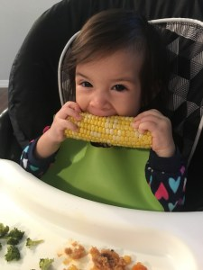 mmm corn baby toddler blw- Real Simple Mama
