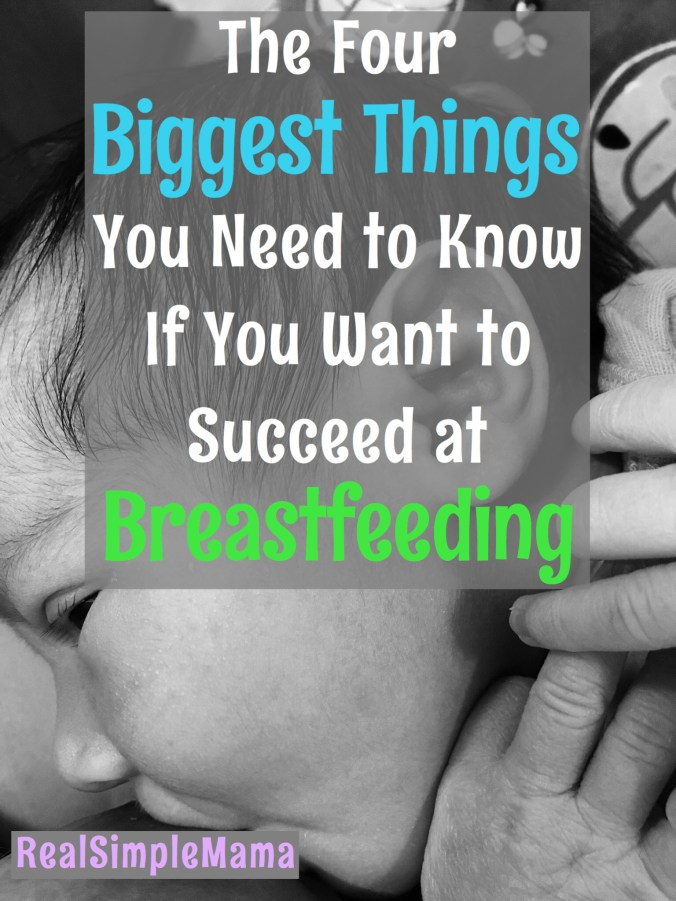 The Four Biggest Things You Need to Know If You Want to Succeed at Breastfeeding - Real Simple Mama
