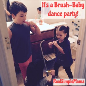 Review: Brush-Baby - Real Simple Mama image dance party toothbrush bathroom kid child toddler