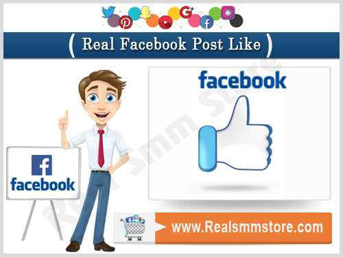Real Facebook Post Likes
