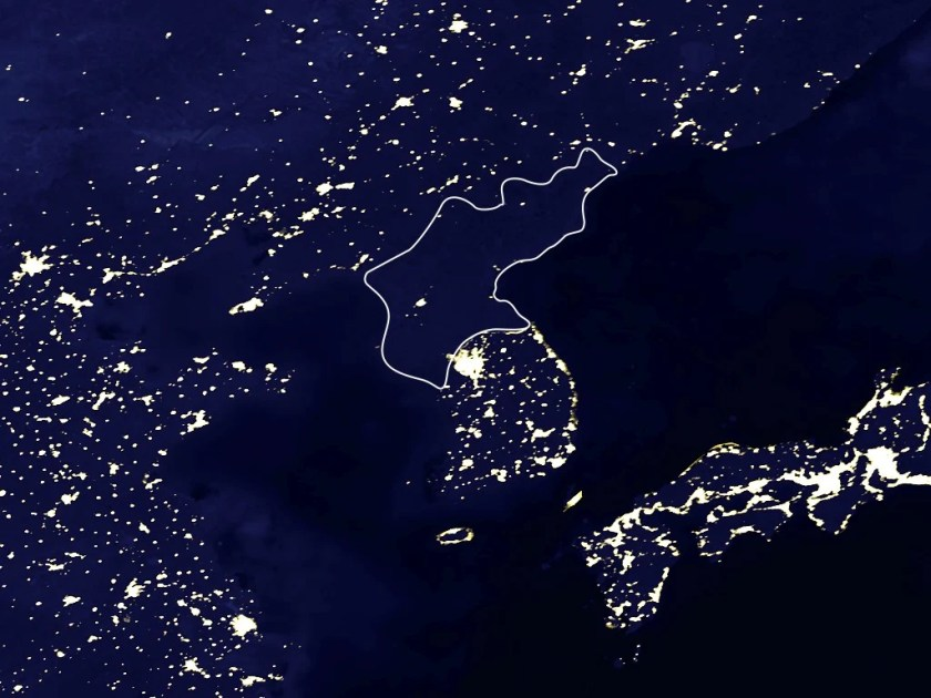 North and South Korea at Night