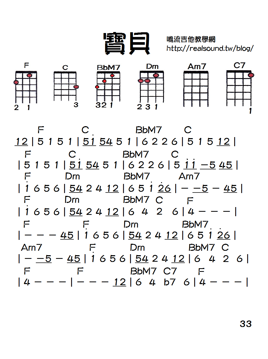 寶貝吉他譜指法 - 寶貝吉他譜指法  - 快熱資訊 - 走進時代