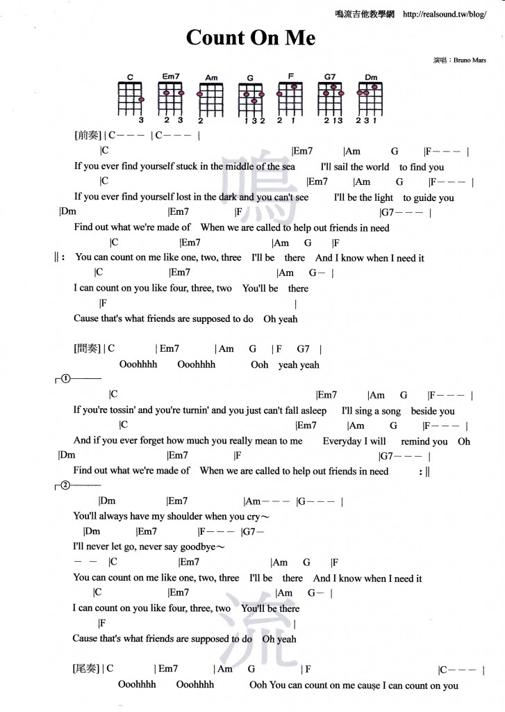 Colorful Thinking Out Loud Chords Component - Basic Guitar Chords ...