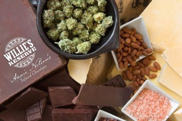 Weed and Edibles Top-down Shot