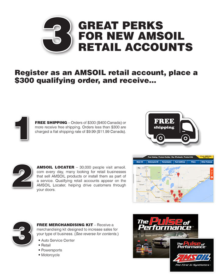 AMSOIL Retail Perks