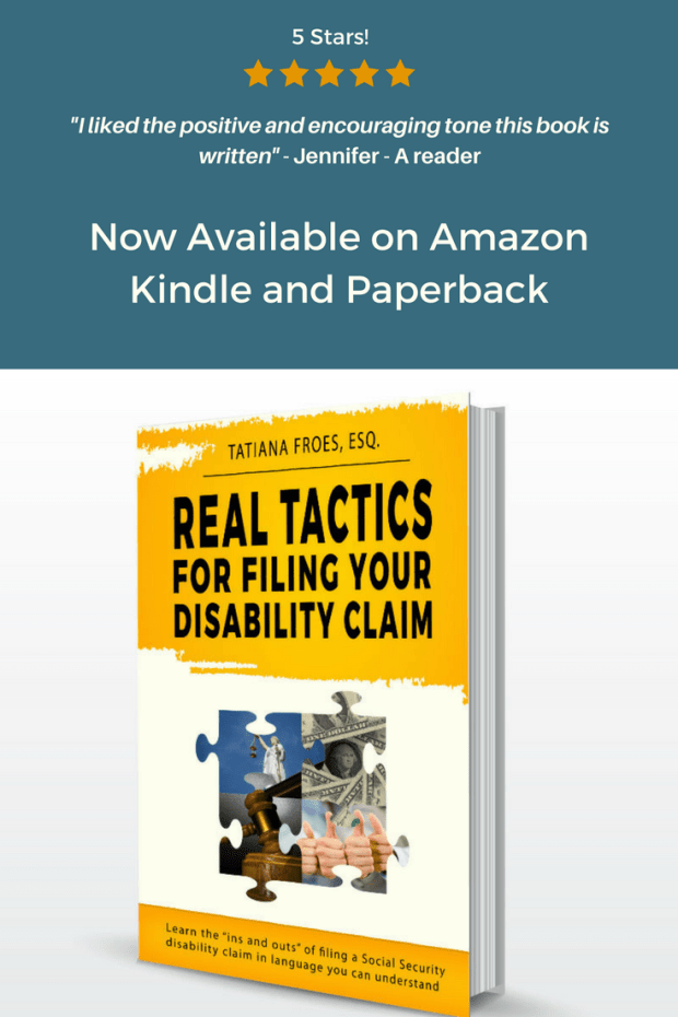 Social Security Disability Claim book Real Tactics for Filing Your Disability Claim