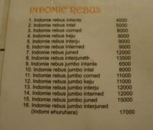 Menu Indomie Rebus Aniayya