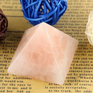 Healing Rose Quartz Pyramid 10