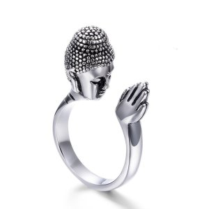 Men's Praying Buddha Ring 4