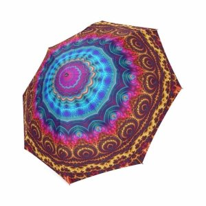 Colorful Mandala Print Umbrella 8