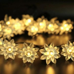 Lotus Shaped Waterproof LED Fairy Lights 13