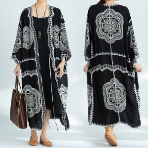 Women's Mandala Embroidery Long Cardigan 7