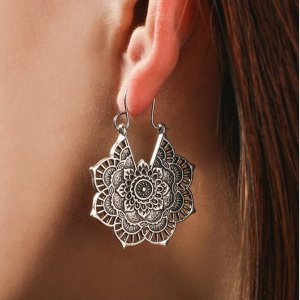 Women's Lace Mandala Drop Earrings 8