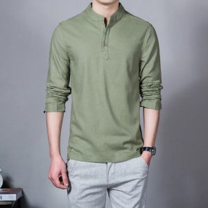Men's Linen Long Sleeve T-Shirt 3