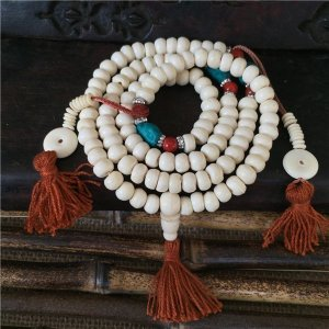 Traditional Tibetan Style Yak Bone Beads Mala 7